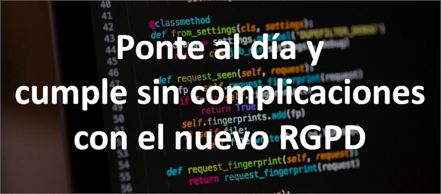 Jornada nuevo Reglamento General de Protección de datos RGPD