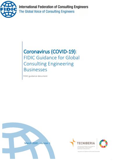 FIDIC orienta a las consultorías de ingeniería COVID19 coronavirus