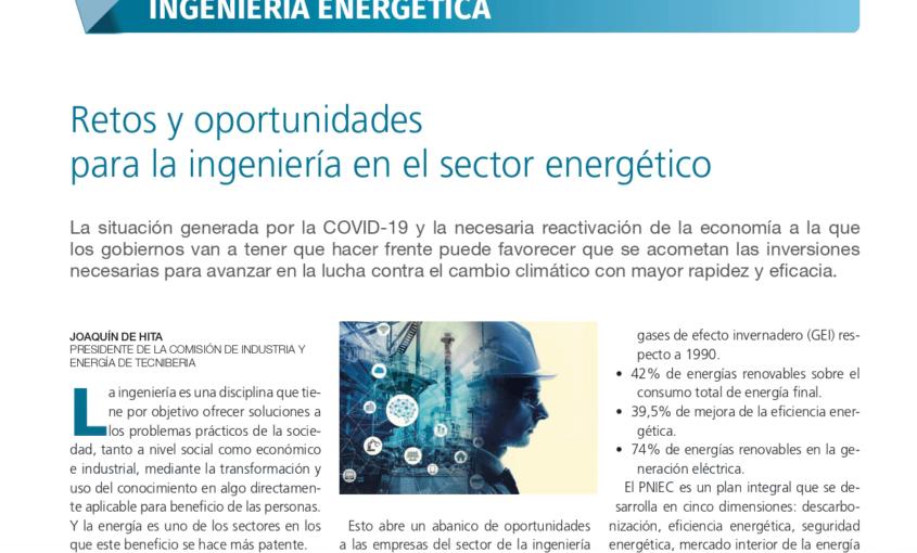 'Retos y oportunidades para la ingeniería en el sector energético'.